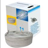 UTP/FTP Cat5e de 305 metros de cable LAN 24 AWG 4 pares de cable de red utilizado para interiores