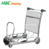 Smart faites en acier inoxydable Airport Shopping Trolley