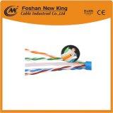 Cable de alta velocidad de la red de cable del LAN de Ethernet de UTP CAT6 con cobre descubierto