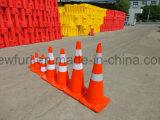 cône r3fléchissant de circulation de PVC de sécurité routière de vente chaude de 750mm