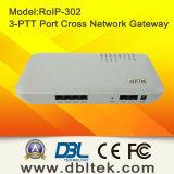 Gateway de rádio do SIP VoIP da Cruz-Rede (RoIP-302M)