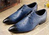 Mann-Kleid-Schuh-Leder-Form bereift Mann-Kleid-Schuhe