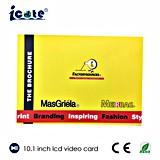 Die 10.1 Zoll-videobroschüre wird für fördernde Geschenk-Einladung/das Bekanntmachen verwendet