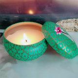 Vela perfumada natural del estaño de la soja de la cera orgánica determinada de la soja del regalo de Seriess de la Navidad