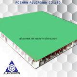 Panneaux composés d'Aluiminum de couleur verte pour le revêtement de mur intérieur
