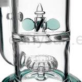De in het groot 2 Recycleermachines Gebogen Waterpijp van het Glas van de Hals voor het Roken (S-GB-224)