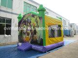 Castello di salto gonfiabile del fumetto verde