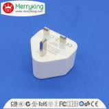 Заряжатель перемещения штепсельной вилки портов 5V 2A USB утверждения RoHS Ce двойной UK
