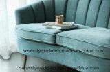 Sofà moderno di stile del nero della mobilia occidentale del salone con il sofà di cuoio reale