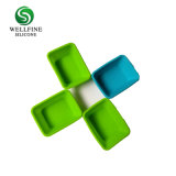 La silicona de molde para hornear& de silicona personalizadas Cupcake molde con forma cuadrada