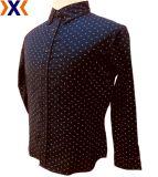 Het Overhemd van de afgedrukte Mensen van de Koker van de Stof van de Popeline van de Rek Lange
