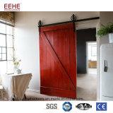 Puerta deslizante de madera interior para el sitio hecho en China