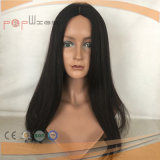 白い皮の上デザインバージンカラー絹の上のかつら(PPG-l-01051)
