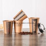Tazza di carta personalizzata del mestiere di stampa di marchio per la bevanda calda del caffè