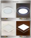 12W & ronds en matériau de verre de forme carrée Downlight LED pour panneau