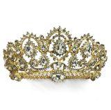 2018 de Aangepaste Bruids Kroon van de Tiara's van het Bergkristal van het Huwelijk van de Kroon van het Kristal (Ta-001)