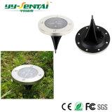 Solargarten-Rasen-Licht-angeschaltene Tiefbausolarlichter