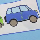Малыши конструкции автомобиля Xiamen голубые складывая мешок хранения игрушки с ручками