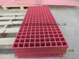 Grate modellate colore rosa della vetroresina, grate di FRP/GRP con colore rosso/dentellare