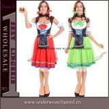 Traje 2017 adulto alemão da menina da cerveja de Halloween Oktoberfest Baviran Cosplay (TLQZ10001)