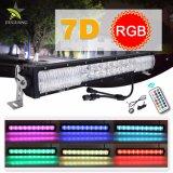 7D 2 rangées Cross RVB 22 pouces Offroad barre lumineuse à LED 4x4