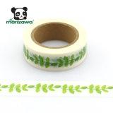 Il colore verde di Manzawa pianta il nastro decorativo adesivo del mestiere di Bande del nastro protettivo del Giappone Washi del reticolo dei fogli