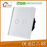 Стены панели касания переключателя дистанционного управления переключатель стеклянной светлый
