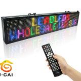 Muestra electrónica móvil P10 de la tarjeta LED de la muestra del mensaje que hace publicidad