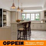 白く、木製の穀物PVC膜のモジュラー食器棚の家具の食器棚(OP17-PVC03)