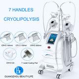 Вертикальный корпус Cryolipolysis похудение двойной подбородок Cryotherapy красоты оборудование/ 4 Cryo обрабатывает работать вместе