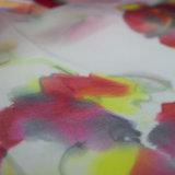 Écharpe de tissu de Paj de soie de 100% longue avec la configuration de fleur pour des femmes