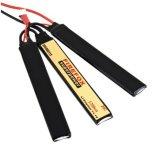 batería táctica del palillo del Li-Polímero de 7.4V 1200mAh Lipo Li-Po