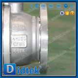 Valvola a sfera molle del perno di articolazione di sigillamento dell'acciaio di pezzo fuso di Didtek con la leva