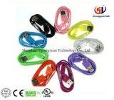 Cable de datos colorido del USB del micr3ofono 3.0 del PVC para el iPhone/el teléfono