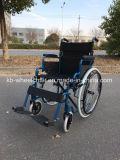 Desbloquear rápido, sillón de ruedas económico del acero inoxidable