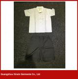卸し売り方法デザイン白い綿ワイシャツの学生服(U42)