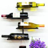 Weinlese-klassische Entwurfs-Pyramide-Metallbildschirmanzeige-Flaschen-Speicher-Wein-Zahnstange