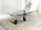 Tavolino da salotto funzionale allungabile di rettangolo moderno con i piedini d'argento