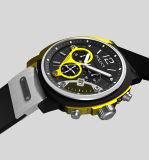 Diseño de alta calidad de su propia marca Mens Deporte Cuarzo Correa de caucho de silicona Deportes reloj de pulsera con Logo