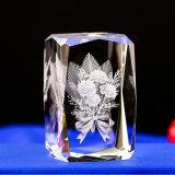 Kubussen van het Kristal van de Laser van het Kristal van de Decoratie van het Huis van de fabriek de Directe Goedkope 3D Lege voor Gravure
