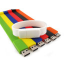 Movimentação colorida do flash do USB do relógio de pulso da vara do USB do bracelete do silicone