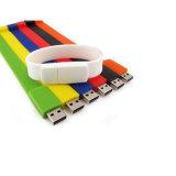 다채로운 실리콘 팔찌 USB 지팡이 손목 시계 USB 섬광 드라이브