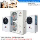 Chauffe-eau air-eau Monobloc chaud froid de pompe à chaleur de l'eau 12kw/19kw/35kw/70kw/105kw Evi du chauffage +55c de Chambre d'étage de l'hiver -20c