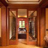 Singolo disegno di legno del portello di comitato della camera da letto interna con gli inserti di vetro