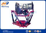 6 máquinas de juego emocionantes de arcada del simulador del coche de competición del Dof