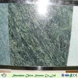 Matériaux de construction en pierre naturelle de dalles de marbre vert Peacock/tuiles/Comptoirs/vanité tuiles haut/mur/laminés