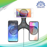 2018 Nuevo 3en1 portátil universal Qi Rápido soporte cargador inalámbrico teléfono USB CARGADOR para Samsung /iPhone 5V/1.5A soporte de carga USB