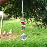 6 Design diferente Crystal Suncatcher Fengshui Prisma Ornament Lustre Pendente para pendurar a esfera de iluminação decoração de casamento