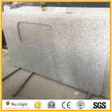 Custom Cheap blanc gris G655 comptoirs de cuisine en granit Tops Island