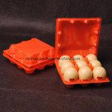Caixa plástica da bolha desobstruída do supermercado para ovos (bandeja do ovo do PVC)